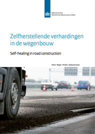 Self healing in road construction